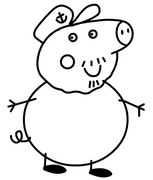 peppa pig para colorear 29 abuelo pig