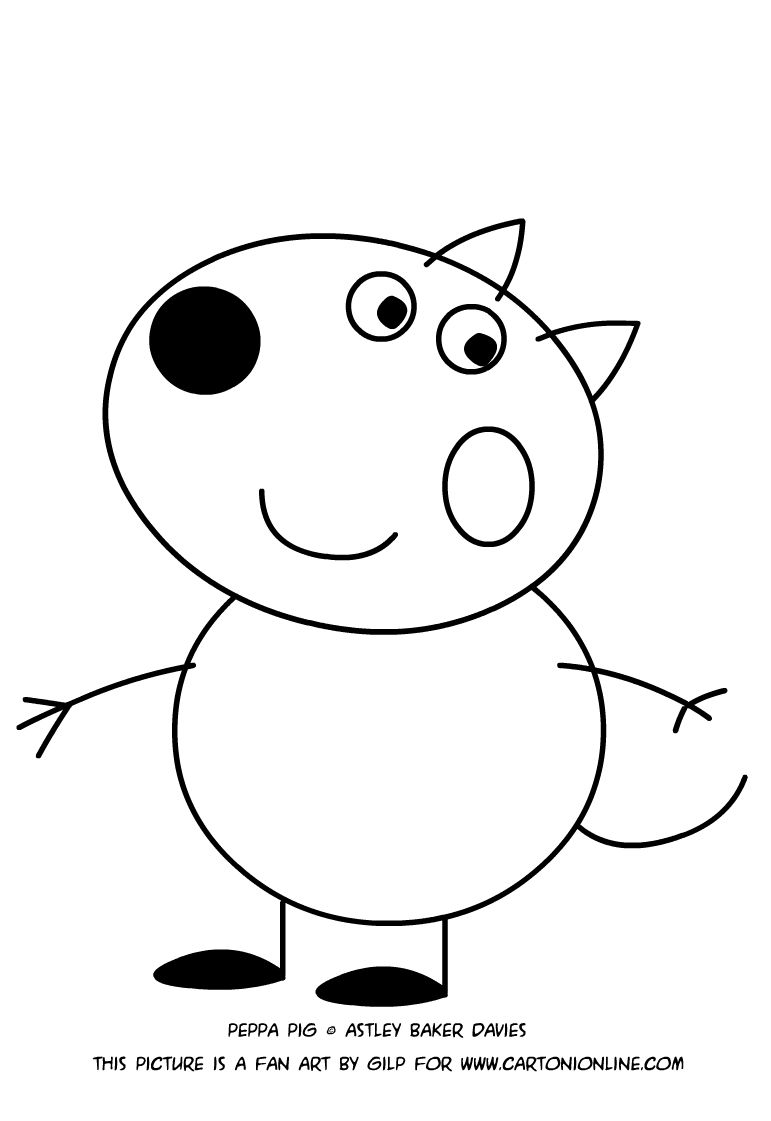 peppa pig para colorear 33 danny dog