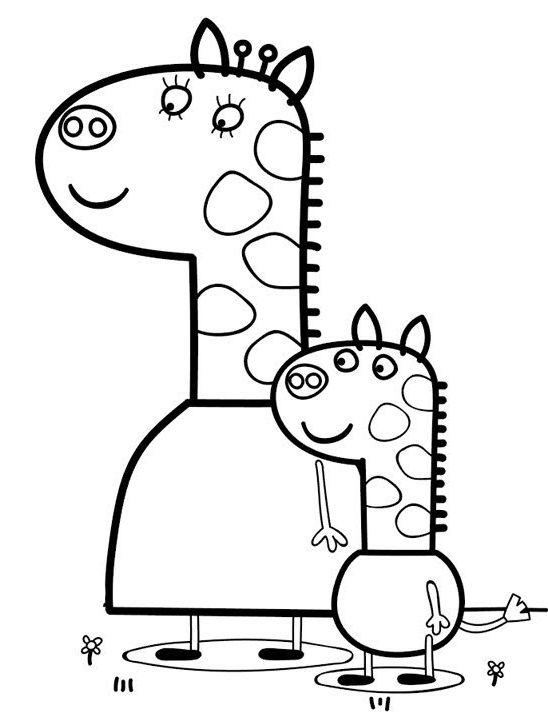 peppa pig para colorear 36 gerald jirafa