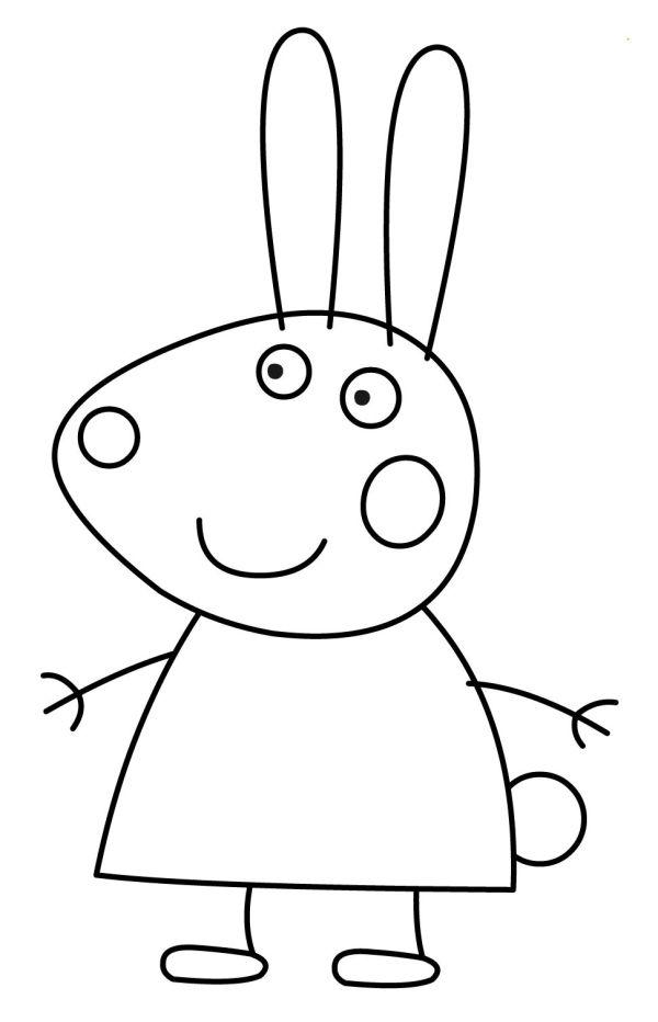 peppa pig para colorear 38 rebecca rabbit