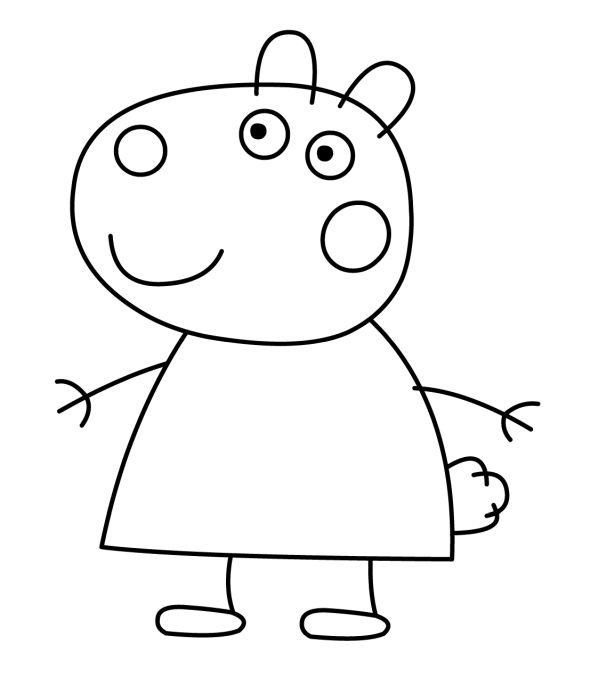peppa pig para colorear 40 suzy sheep