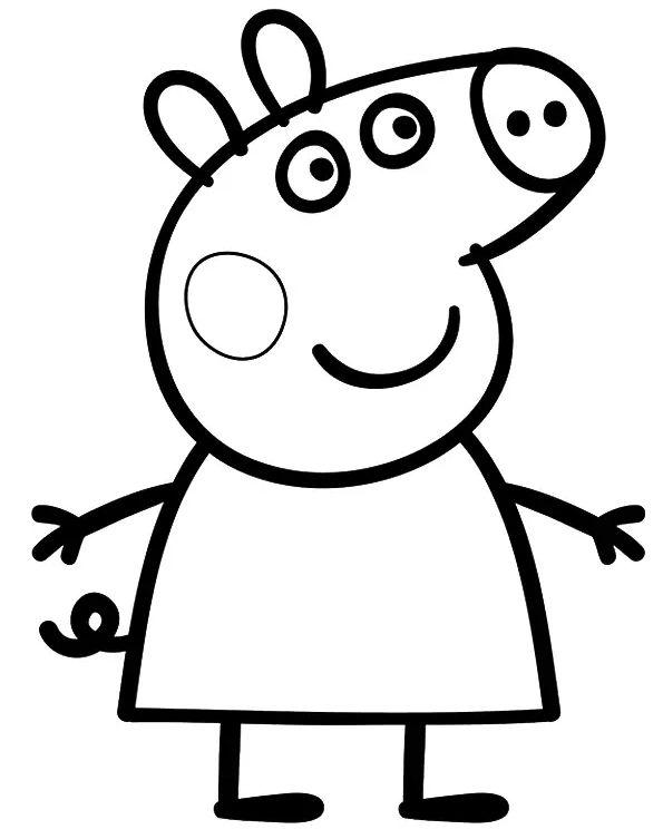 peppa pig para colorear 7 peppa pig