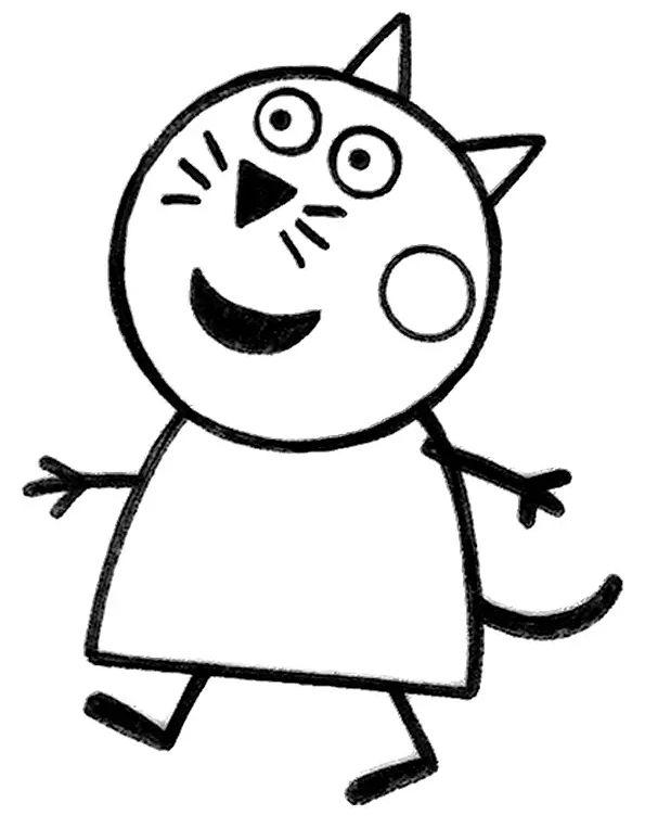 peppa pig para colorear 8 candy cat