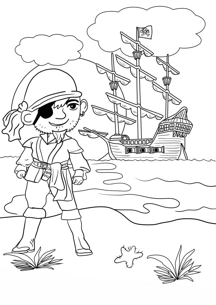 piratas para colorear 1