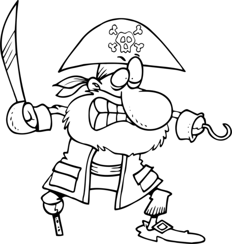 piratas para colorear 12