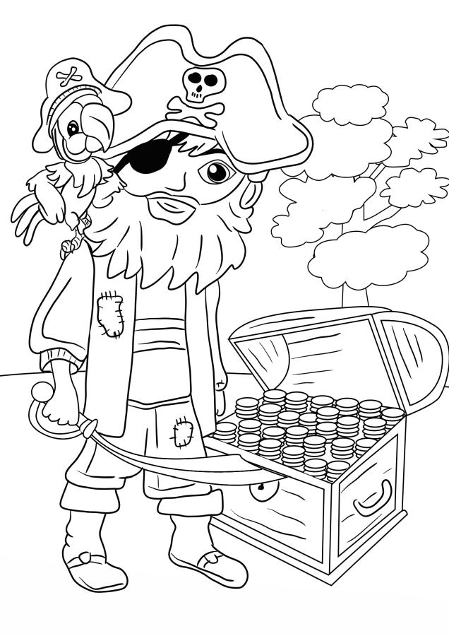 piratas para colorear 2