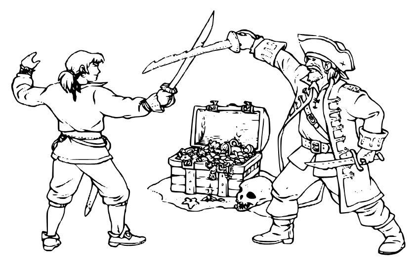 piratas para colorear 4