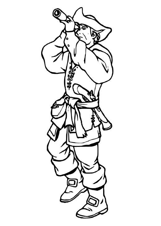 piratas para colorear 5
