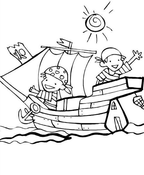 piratas para colorear 9