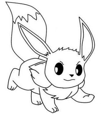 pokemon para colorear eevee 1