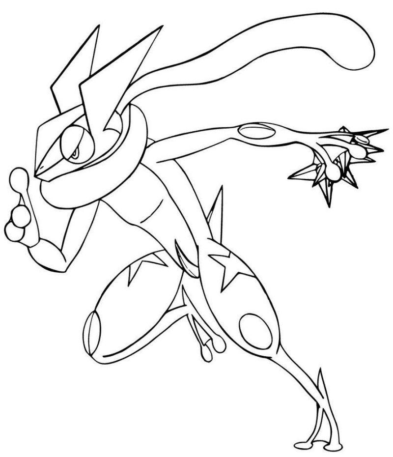 pokemon para colorear greninja 2