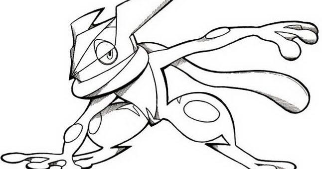 pokemon para colorear greninja 3