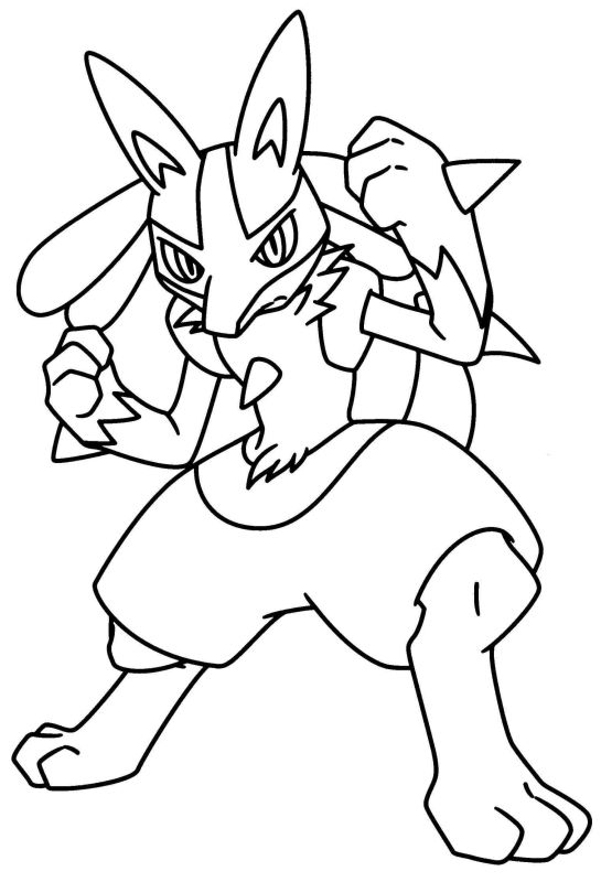 pokemon para colorear lucario 1