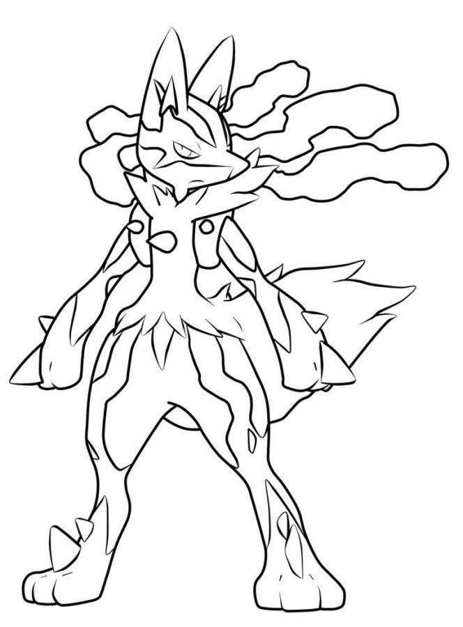 pokemon para colorear lucario 2