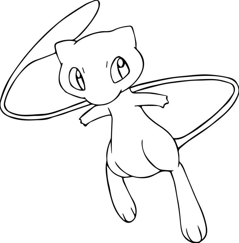 pokemon para colorear mew 3