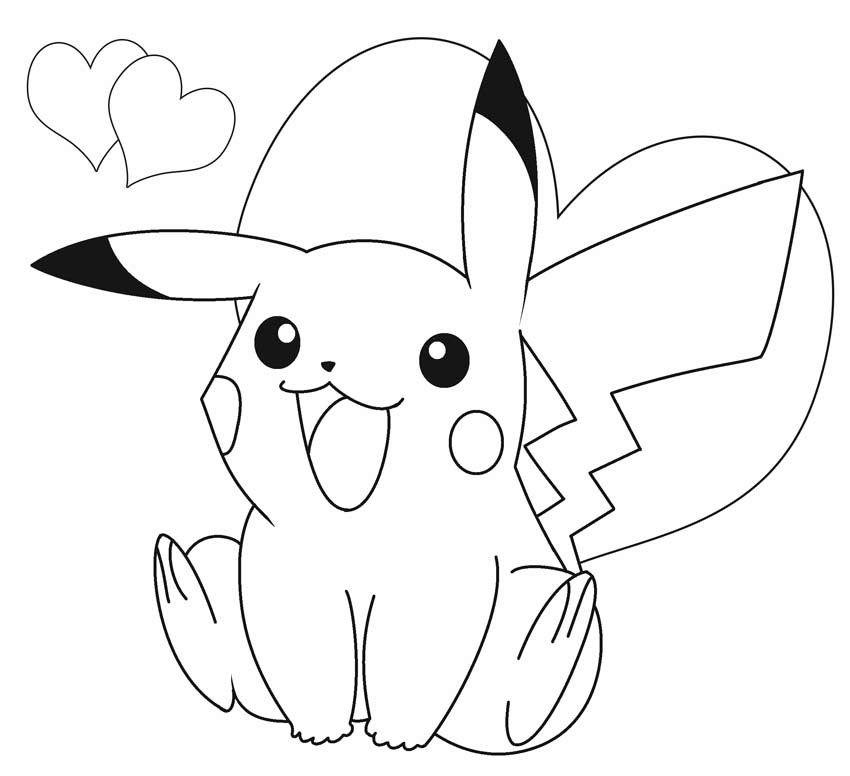 pokemon para colorear picachu 4