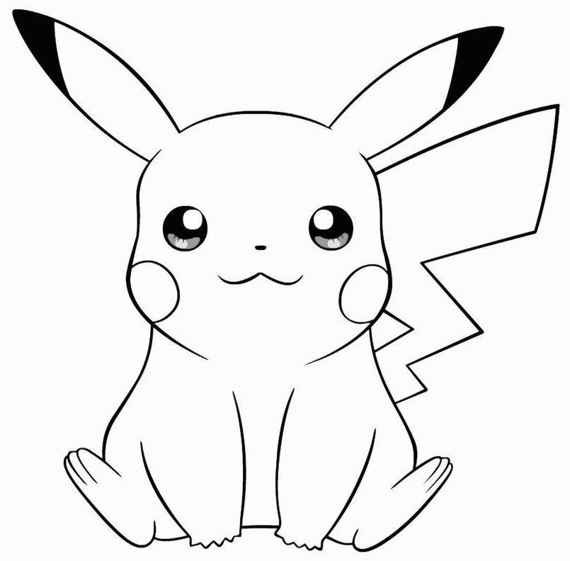 pokemon para colorear pikachu 1