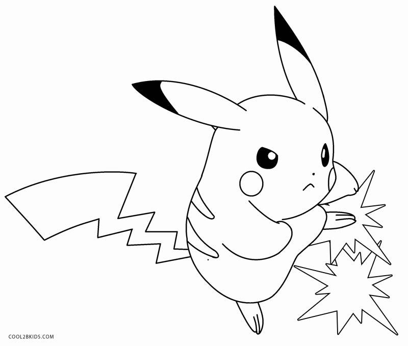 pokemon para colorear pikachu 2