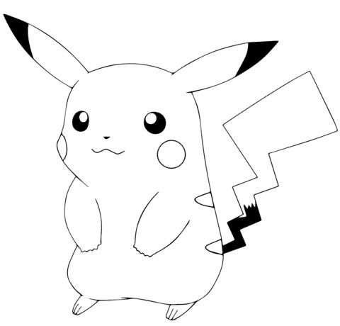 pokemon para colorear pikachu 5