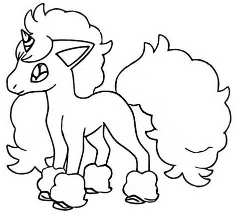 pokemon para colorear ponyta 1