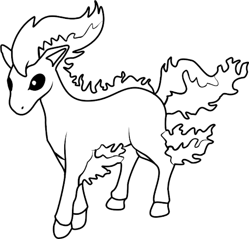 pokemon para colorear ponyta 2