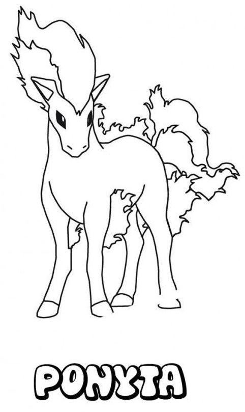 pokemon para colorear ponyta 3