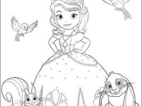 princesas para colorear 1 con animalitos