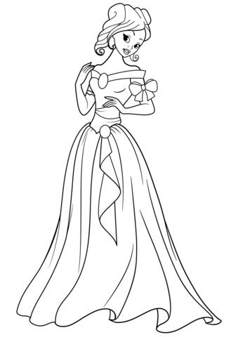 princesas para colorear 11
