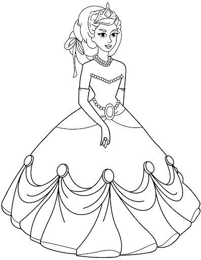princesas para colorear 13