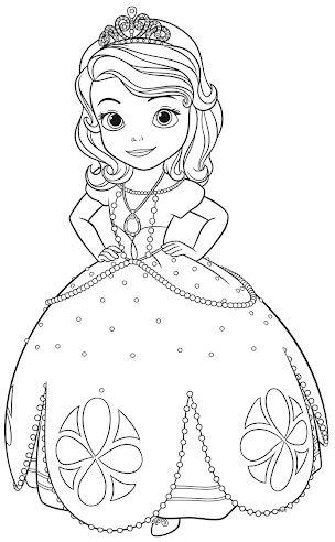 princesas para colorear 16 princesita