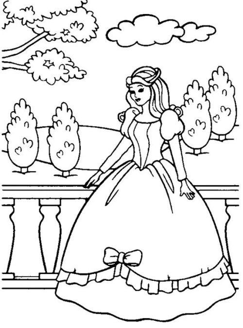 princesas para colorear 20