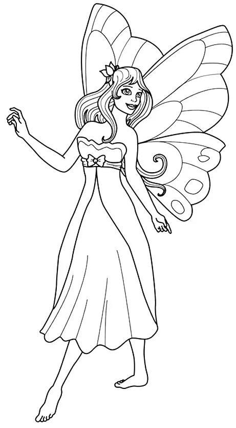 princesas para colorear 22 con alas