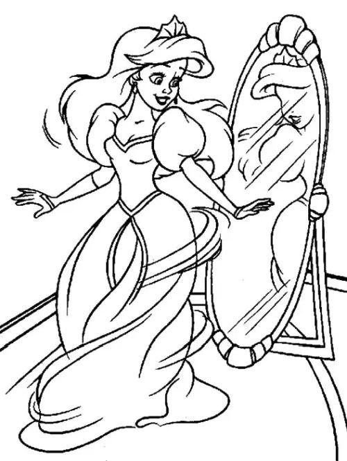 princesas para colorear 24 con espejo