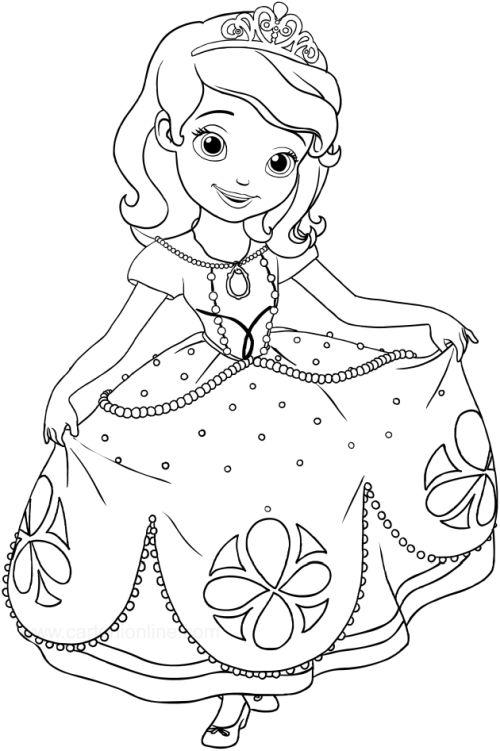 princesas para colorear 25 nina