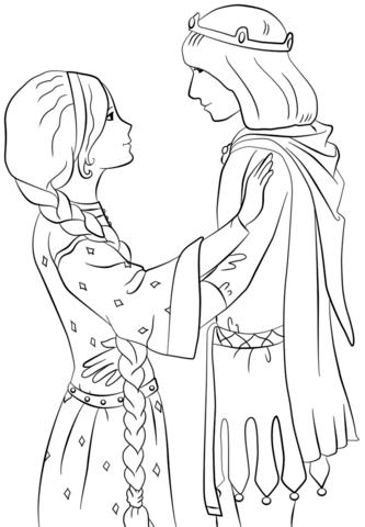 princesas para colorear 40 con principe