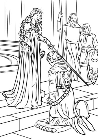 princesas para colorear 57 medieval