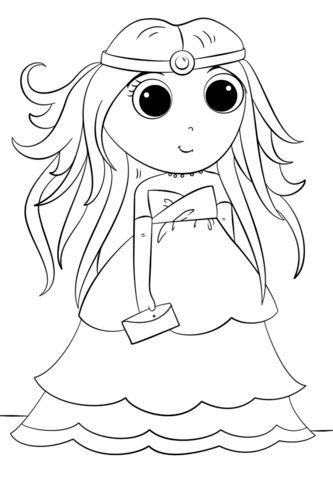 princesas para colorear 6 anime
