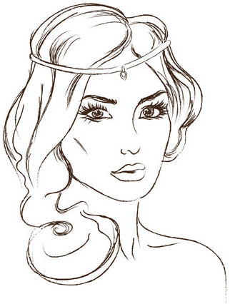 princesas para colorear 7 rostro