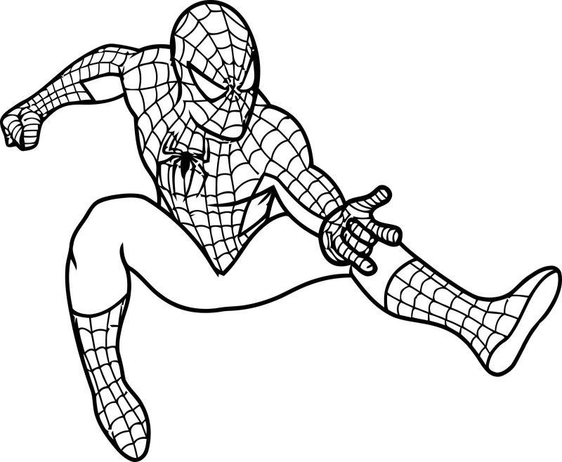 spiderman para colorear 1