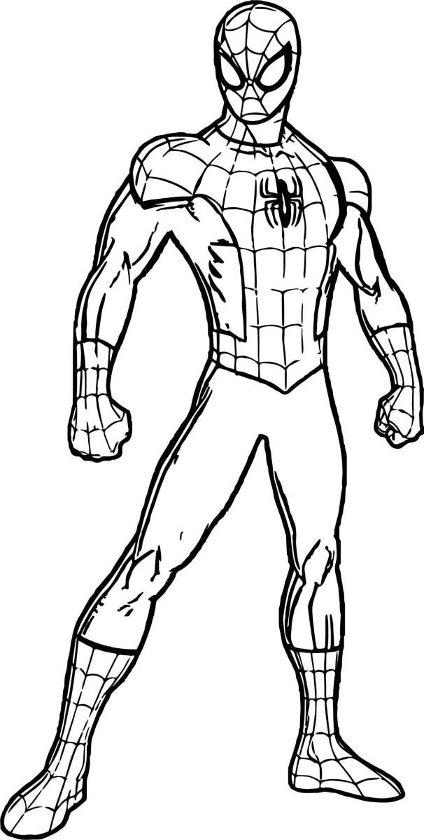 spiderman para colorear 11