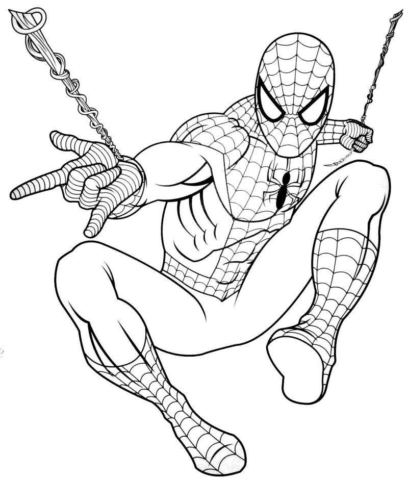 spiderman para colorear 12