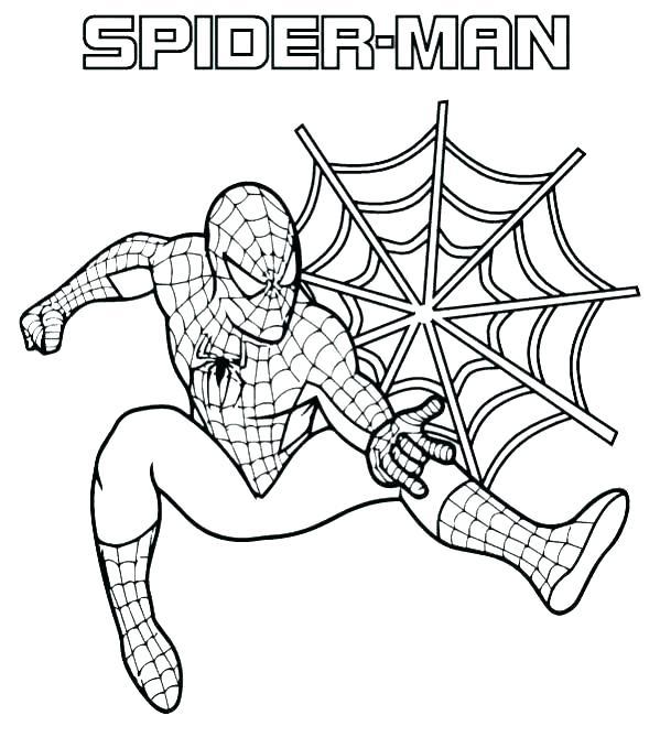 spiderman para colorear 16