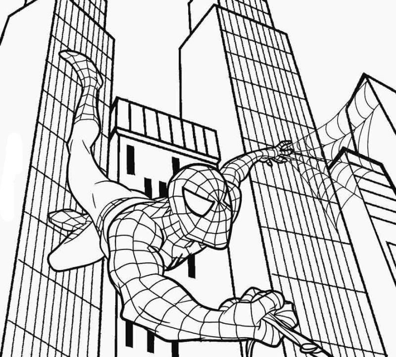 spiderman para colorear 23