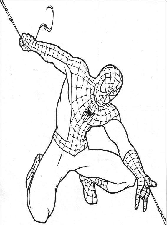 spiderman para colorear 24