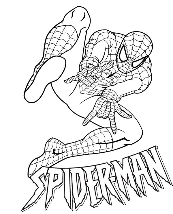 spiderman para colorear 25