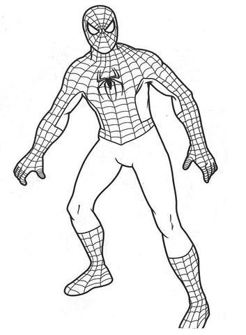 spiderman para colorear 28