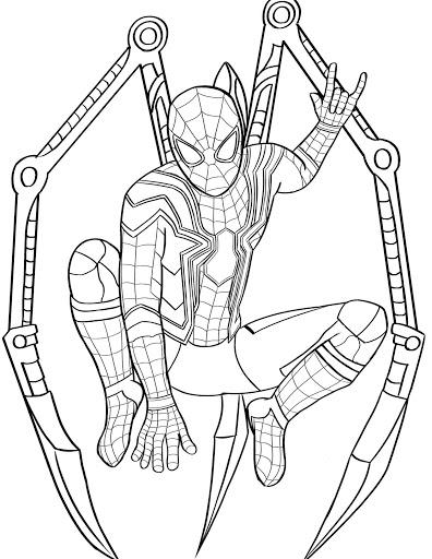 spiderman para colorear 30