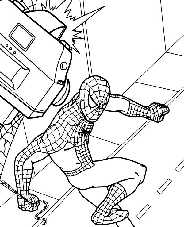 spiderman para colorear 31