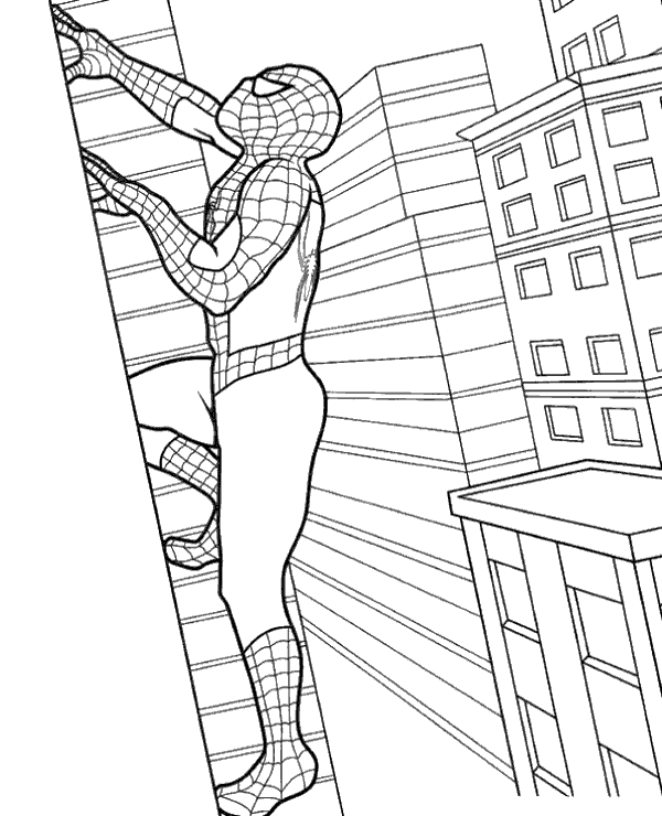spiderman para colorear 33