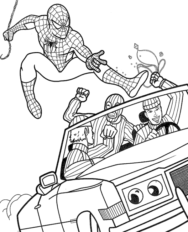spiderman para colorear 35